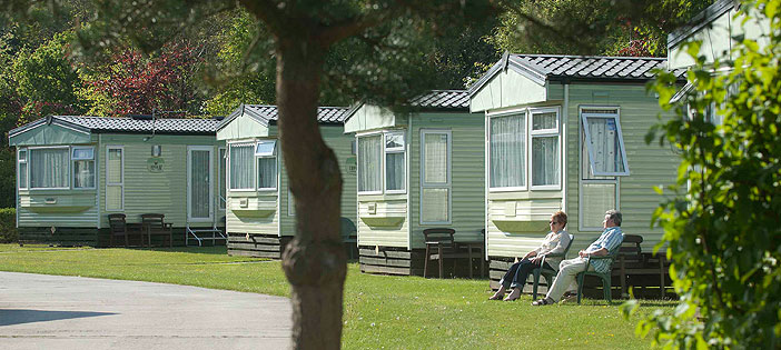 caravans on the park