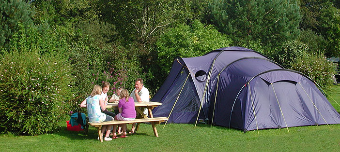 touring and camping at oakdown