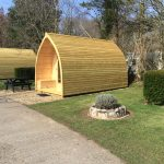 glamping pods at Oakdown holiday park