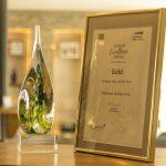 Oakdown Award in a frame